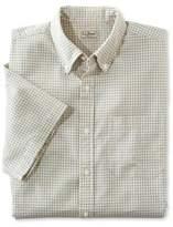 L.L. Bean Seersucker Shirt, Traditional Fit Short-Sleeve Tattersall