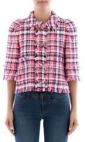 MSGM Women's Pink Cotton Jacket.