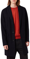 Topman Wool Blend Shawl Collar Topcoat