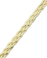Giani Bernini 24k Gold over Sterling Silver Bracelet, Braided Bracelet