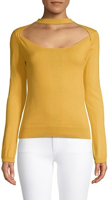 Victor Glemaud Long Sleeve Cutout Knit Top