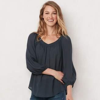 Lauren Conrad Women's Banded Neck Blouse