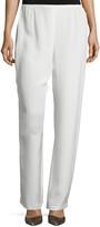 Caroline Rose Plus Size Silk Crepe Straight-Leg Pants