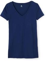 Petit Bateau Womens light cotton V-neck T-shirt