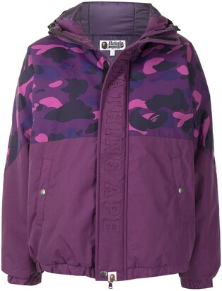 A Bathing Ape Camo hooded padded jacket