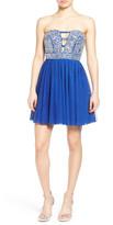 Trixxi Embellished Strapless Skater Dress