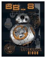 "Star Wars BB8 Spray Painted Canvas - 11x14"""