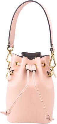 Fendi Pink Leather Mini Mon Tresor Bucket Bag
