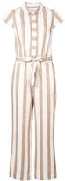 Frame Tie Waist Striped Jumpsuit