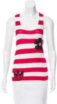 Alice + Olivia Striped Appliqué Top