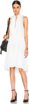 Chloé Embroidered Cotton Voile Lace Up Front Dress