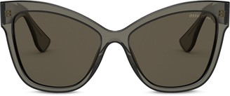 Miu Miu Oversize Cat Eye Sunglasses