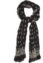 Saint Laurent Bandana-print cashmere and silk-blend scarf