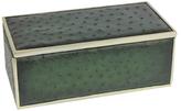 Rectangular Embossed Ostrich Skin Box
