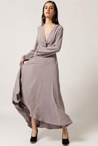 Azalea Tie Front L/S Maxi Dress