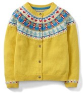 Toddler Girl's Mini Boden Fair Isle Cardigan