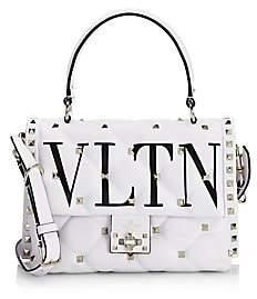 Valentino Women's Garavani Candystud VLTN Leather Top Handle Bag