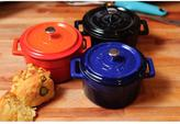 Lava Signature 12 oz. Enameled Cast Iron Round Mini Dutch Oven in Cobalt Blue