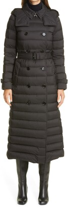 Burberry Arniston Double Breasted Quilted Down Long Puffer Coat