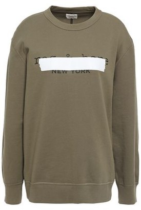 Rag & Bone Tape Oversized Printed French Cotton-terry Sweatshirt