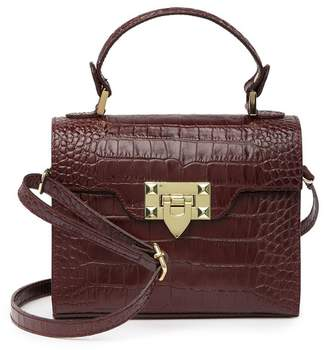 Persaman New York Ballenciia Croc-Embossed Leather Satchel