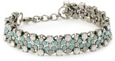 "Sorrelli Aegean Sea"" Staggered Crystal Bracelet, 7.5"""