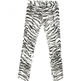 Saint Laurent Zebra print Cotton Jeans