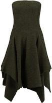 Stella McCartney Strapless draped wool-blend dress