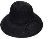 Cloche Justine Hats Black Straw Hat