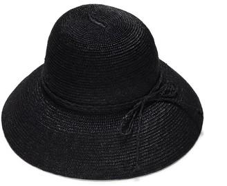 Cloche Black Straw Hat