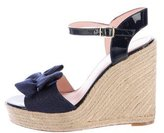 Kate Spade Bow-Accented Espadrille Wedges