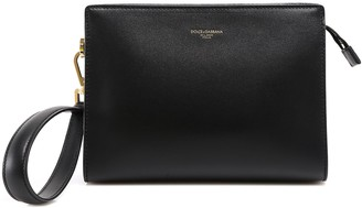 Dolce & Gabbana Monreale Logo Print Small Clutch Bag