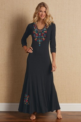 Soft Surroundings Women Embroidered Maxi