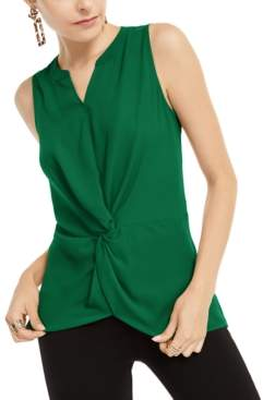 INC International Concepts Inc Sleeveless Twist-Front Top, Created for Macy's