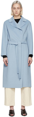 S Max Mara Blue Wool Aria Coat