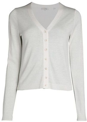 Vince Button-Front Wool-Blend Cardigan