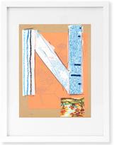 Jonathan Adler Trey Speegle Letter Series - Blue N