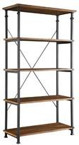 Homelegance Ronay Rustic Industrial Wide Bookshelf Pine