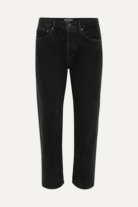A Gold E Agolde AGOLDE - Parker Cropped Organic High-rise Straight-leg Jeans - Black
