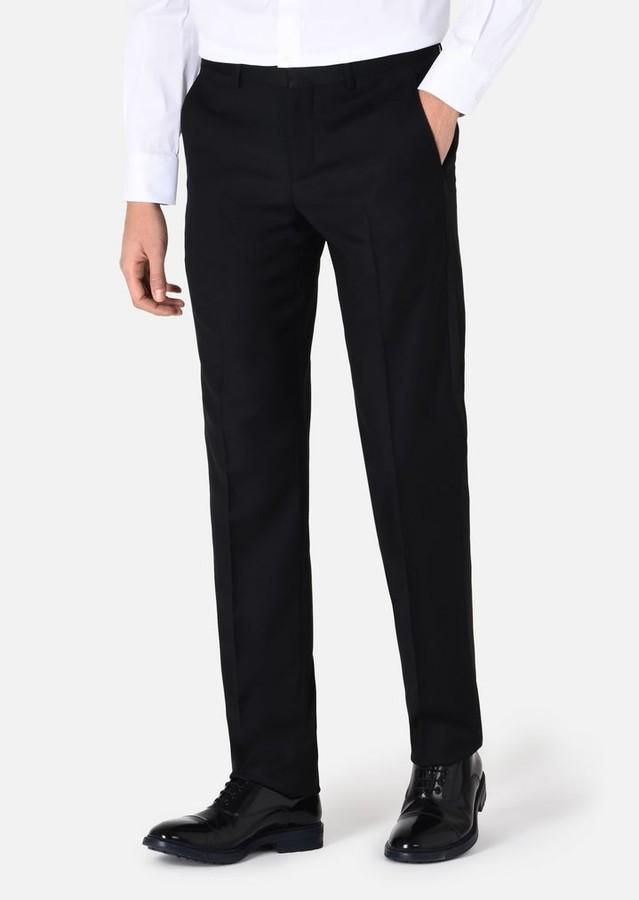 Emporio Armani Slim-Fit Trousers In Virgin Wool