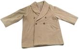 Max Mara Short beige coat in pure wool