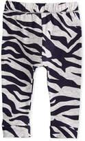 Kenzo Tiger Stripe Stretch Leggings, Gray, Size 2-3