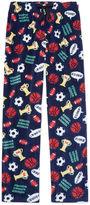 Arizona Microfleece Sport Print Pajama Pant-Boys 4-20 & Husky