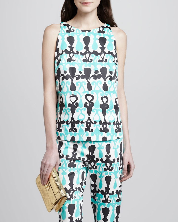 Milly Nina Printed Sleeveless Top