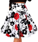 Alaroo Girls Red Rose Print Parachute Midi Skirt XL
