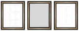 PTM Images Grayson Gallery Wall Mirrors & Photo Collages (Set of 3)