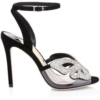 Sophia Webster Madame Butterfly Embellished Vinyl & Suede Sandals