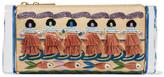 Edie Parker Soft Lara Luau Embroidered Raffia And Acrylic Box Clutch - Beige