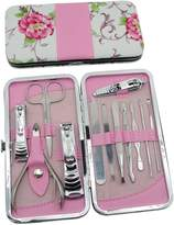 Okbool 12pcs Rose Stainless Steel Nail Clipper Care Personal Manicure & Pedicure Set Travel & Grooming Kit by okbool