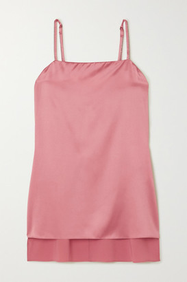 Brunello Cucinelli Stretch-silk Satin Camisole - Blush